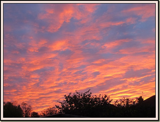 Sunset in Timperley - 19/10/12