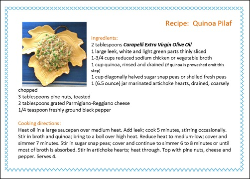Recipe Card Quinoa