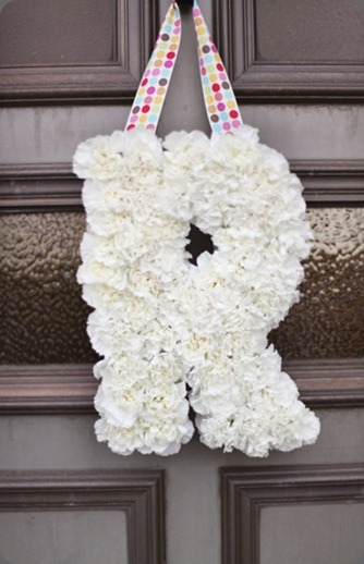 Letters made of flowers cori cook