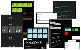 Components included in the Silverlight for Windows Phone Toolkit