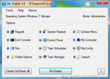 re-enable tool windows