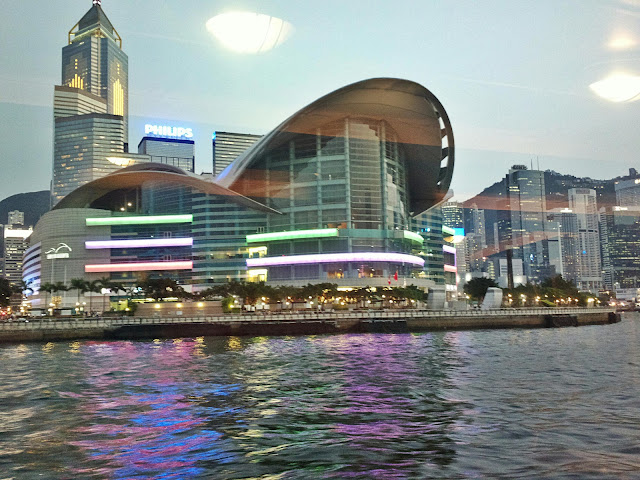 A view of Wanchai and Hong Kong Convention and Exhibition Centre, from Victoria Harbour.