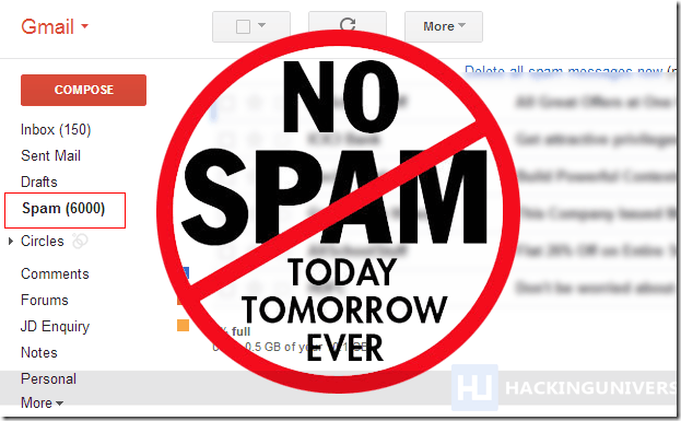 no-spam-filter-gmail