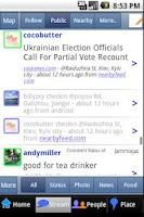 Screenshot of NearbyFeed Lite Friend, Place