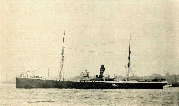El vapor BUENAVENTURA. Foto de la revista El Mundo Naval Ilustrado. Año 1898.JPG