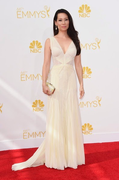 Lucy Liu attends the 66th Annual Primetime Emmy Awards2