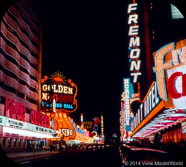 View-Master Las Vegas Nevada A159 Scene 1-1 Freemont Street at night