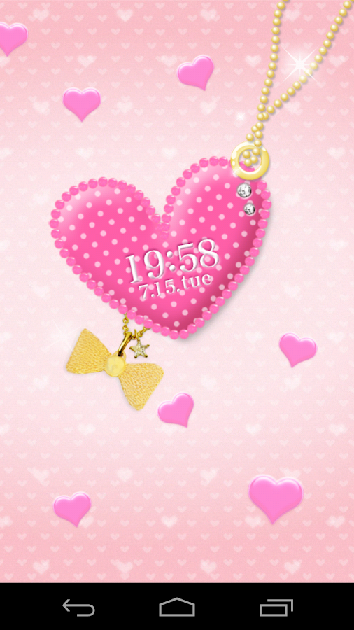 pink heart LiveWallpaper- screenshot