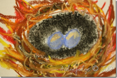 Birds nest chalk pastel tutorial