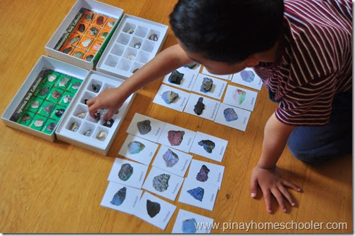 Earth Science: Rock Study Activity 2, Matching Rocks with Name and Fact Cards
