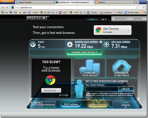 Access Internet Super Cepat download speed 19.22 Mbps ...
