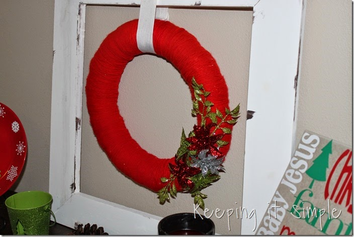 framed Christmas wreath (2)