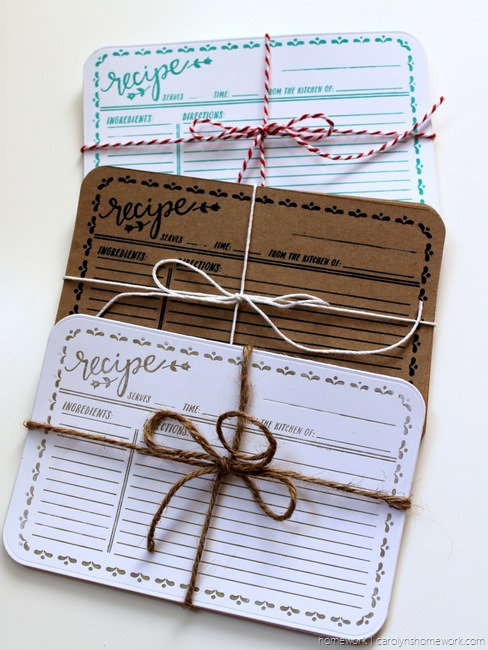 Lifestyle Crafts Embossed Recipe Cards - homework (2)