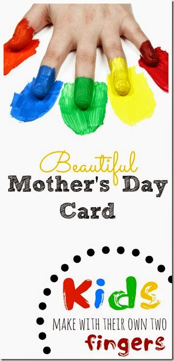 Beautiful mothers day card kids can make by themselves. This is a great mothers day craft for toddler, preschool, kindergarten, 1st grade, 2nd grade and more! I love that kids can make this treasured keepsake themselves!
