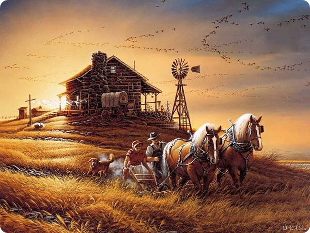 Terry_Redlin_Artwork_wallpaper_For_Amber_Waves_of_Grain