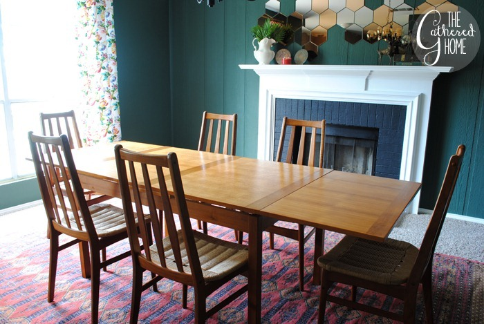 found midcentury teak dining set14