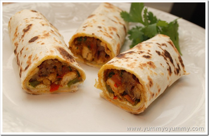 Chicken Kathi Roll - Kerala Style