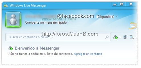 Tu correo de Facebook para chatear con MSN