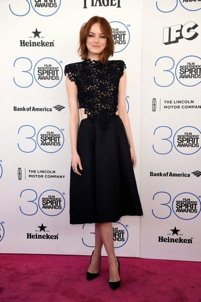 Emma Stone attends the 2015 Film Independent Spirit Awards