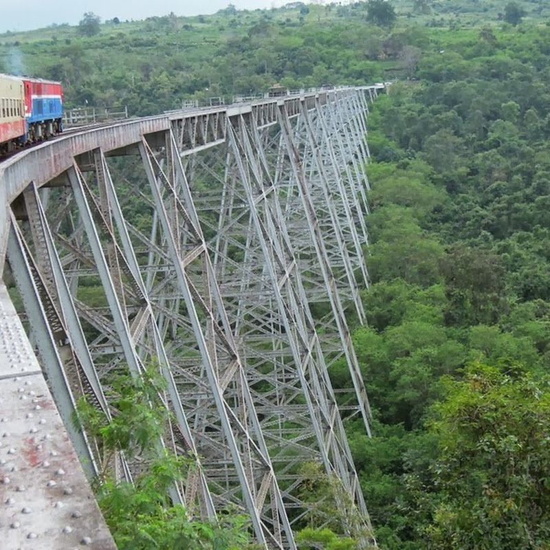 The Hair Raising Train Ride Over Goteik Viaduct
