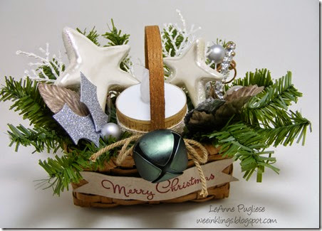 LeAnne Pugliese WeeInklings Candle Basket Christmas Crafts
