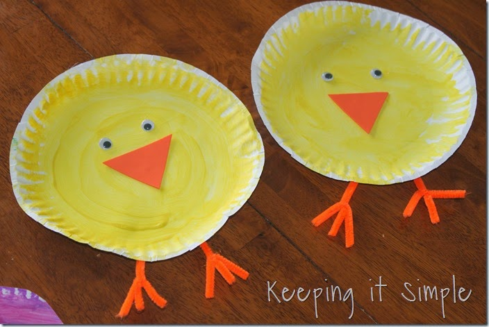 Easter Kids Craft Idea Paper Plate Easter Animals Keeping It Simple