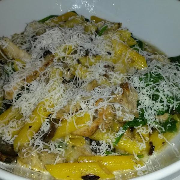 GF pasta portofino with grilled chicken