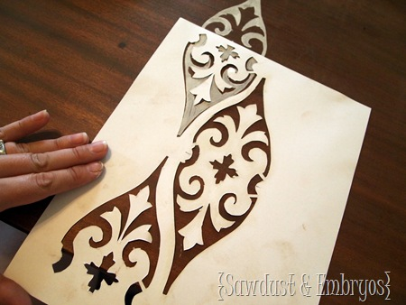 Stencilling a Coffee Table {Sawdust & Embryos}