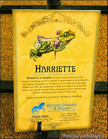 Carousel Animals - Harriet - Sign
