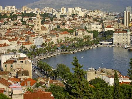 Obective turistice Split: - vazut de pe dealul Marjan