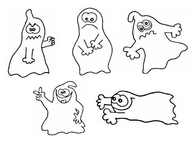 Fantasmas Dibujos Para Colorear