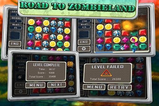Zombie Jewel Puzzle Gold