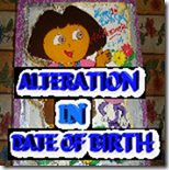 Alteration in Date of Birth - Dopt orders