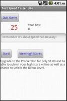 Screenshot of Text Speed Tester Lite