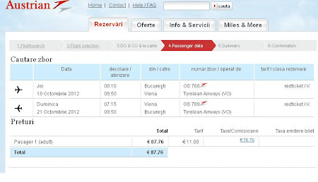 Austrian Airlines 87 euro