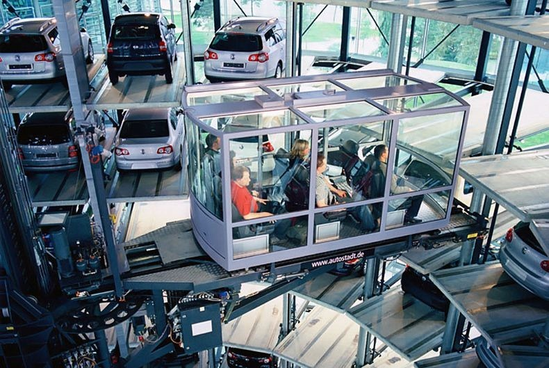 Volkswagen's Car Towers at Autostadt in Wolfsburg, Germany | Amusing Planet
