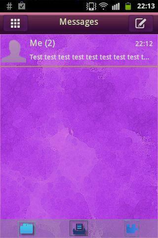 GO SMS Theme Purple Violet Buy