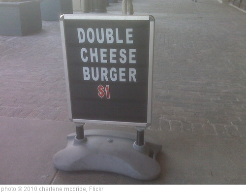'double cheese burger' photo (c) 2010, charlene mcbride - license: http://creativecommons.org/licenses/by/2.0/