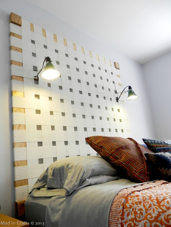 DIY Headboard with Reading Lamps