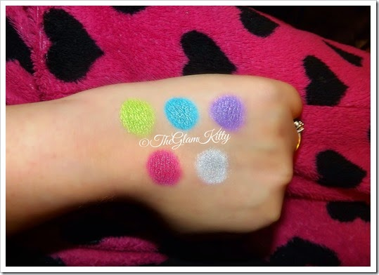B.A Star Tropical Palette Swatches Glam