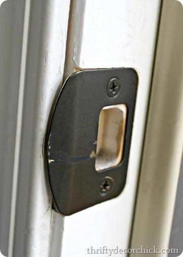spray paint door hardware