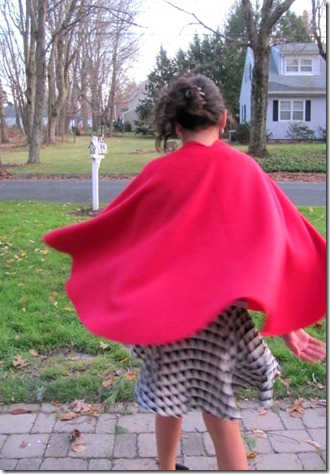 Fleece cape 6