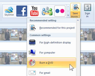 Movie Maker, a free download, can burn a DVD from a downloaded video.
