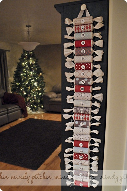 DIY roll advent calendar