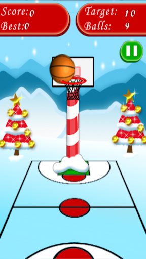 Santa Basketball Shot