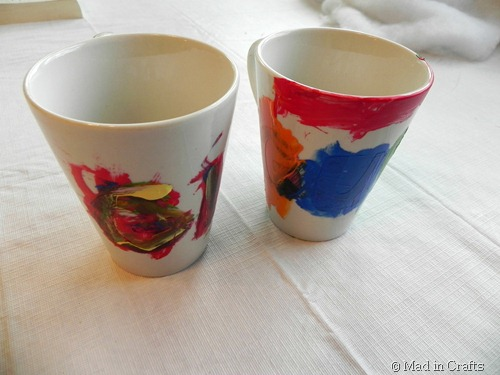 painted mugs for grandparents before