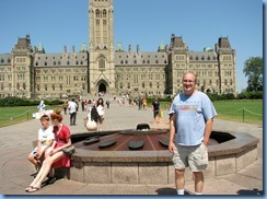 6086 Ottawa - Bill in front of the Centennial Flame  at Parliament Buildings - Centre Block