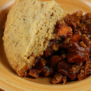 CrockPot Barbecued Chicken and Cornbread Casserole.