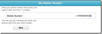 mobile number set