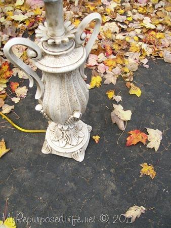 stain (glazed) lamp